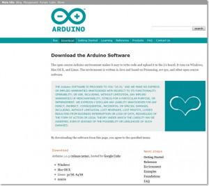 Im Download-Bereich die aktuelle Arduino-IDE herunterladen.